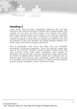 Tower Of Puzzle Word Template, Second Inner Page, 07496, Consulting — PoweredTemplate.com