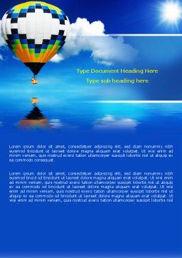 Air Balloon Word Template, Cover Page, 07498, Business Concepts — PoweredTemplate.com