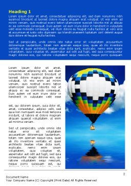 Air Balloon Word Template, First Inner Page, 07498, Business Concepts — PoweredTemplate.com