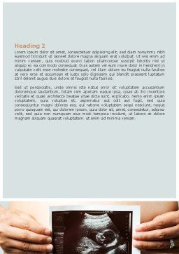 Ultrasound Portrait Of Baby Word Template, Second Inner Page, 07501, Medical — PoweredTemplate.com