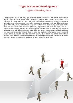 Direction Choice Word Template, Cover Page, 07502, Consulting — PoweredTemplate.com