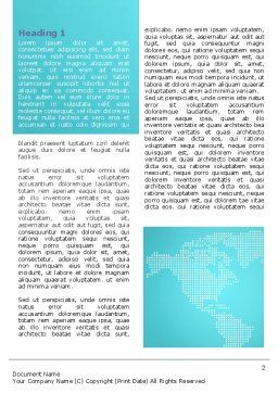 Global Map Word Template First Inner Page