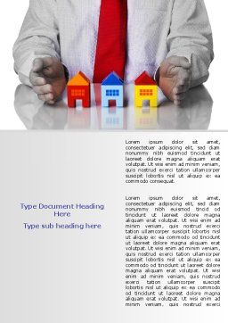 Real Estate Agent Word Template, Cover Page, 07506, Careers/Industry — PoweredTemplate.com