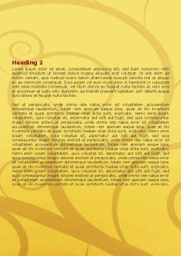 Silhouette Of Tree On The Yellow Background Word Template Second Inner Page