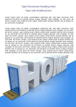 Real Estate Agency Word Template Cover Page