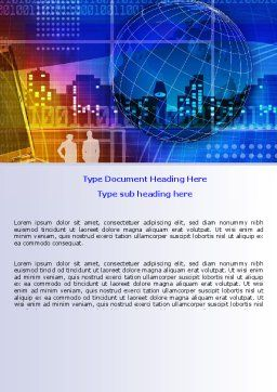 Big City Lights Word Template, Cover Page, 07511, Business — PoweredTemplate.com