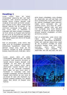 Big City Lights Word Template, First Inner Page, 07511, Business — PoweredTemplate.com