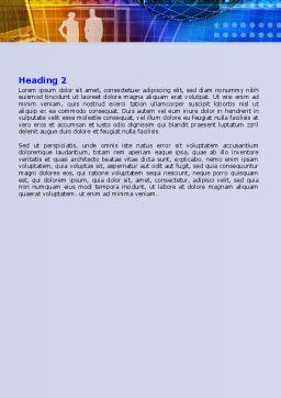 Big City Lights Word Template, Second Inner Page, 07511, Business — PoweredTemplate.com