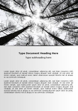 Winter Trees Word Template, Cover Page, 07514, Nature & Environment — PoweredTemplate.com
