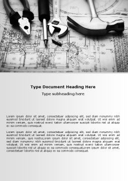 Tools and Draft Word Template, Cover Page, 07516, Utilities/Industrial — PoweredTemplate.com