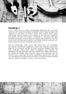 Tools and Draft Word Template, Second Inner Page, 07516, Utilities/Industrial — PoweredTemplate.com