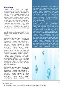 Blue People Abstract Word Template, First Inner Page, 07518, Technology, Science & Computers — PoweredTemplate.com