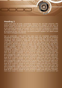 Brown Circle Word Template, Second Inner Page, 07521, Technology, Science & Computers — PoweredTemplate.com