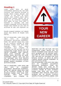 New Career Word Template First Inner Page