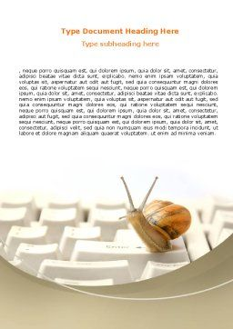 Sluggish Snail Word Template, Cover Page, 07531, Technology, Science & Computers — PoweredTemplate.com