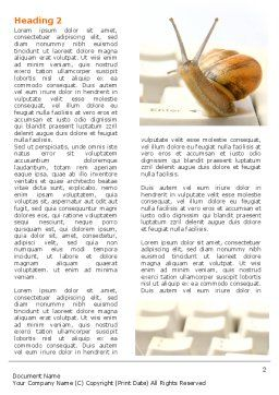 Sluggish Snail Word Template, First Inner Page, 07531, Technology, Science & Computers — PoweredTemplate.com