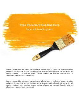Yellow Paint Brush Word Template, Cover Page, 07536, Careers/Industry — PoweredTemplate.com