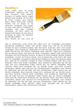 Yellow Paint Brush Word Template, First Inner Page, 07536, Careers/Industry — PoweredTemplate.com