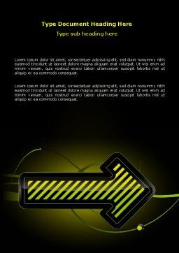 Yellow Pointer Word Template, Cover Page, 07537, Business Concepts — PoweredTemplate.com