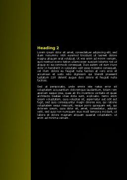 Yellow Pointer Word Template, Second Inner Page, 07537, Business Concepts — PoweredTemplate.com