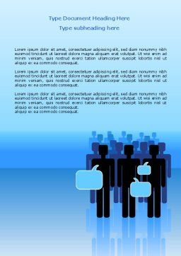 Public Opinion Word Template, Cover Page, 07539, Telecommunication — PoweredTemplate.com