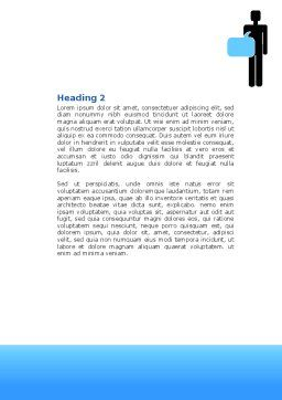 Public Opinion Word Template, Second Inner Page, 07539, Telecommunication — PoweredTemplate.com