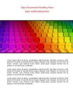 Spectrum Colored Chairs Word Template, Cover Page, 07540, Careers/Industry — PoweredTemplate.com