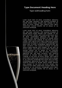Dark Wine Word Template, Cover Page, 07543, Food & Beverage — PoweredTemplate.com