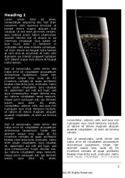 Dark Wine Word Template, First Inner Page, 07543, Food & Beverage — PoweredTemplate.com