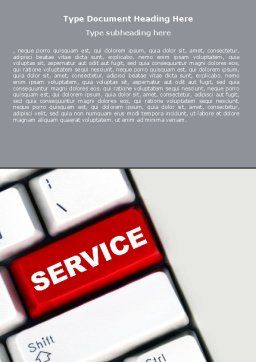 High-Tech Service Word Template Cover Page