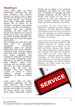 High-Tech Service Word Template First Inner Page