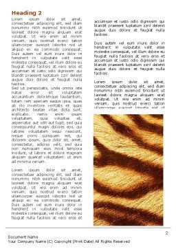 Tiger Skin Word Template First Inner Page