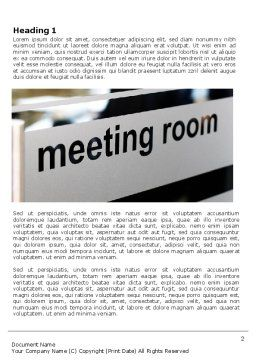 Meeting Room Word Template, First Inner Page, 07553, Business — PoweredTemplate.com