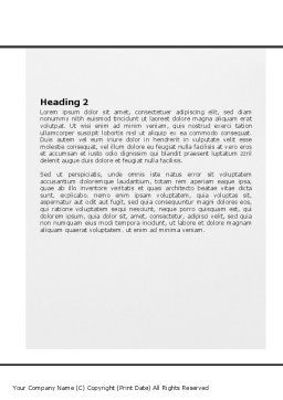 Meeting Hall Word Template, Second Inner Page, 07554, Business — PoweredTemplate.com