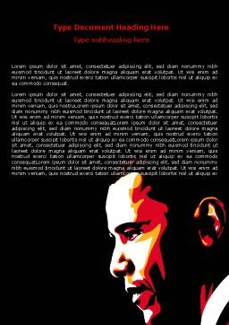 Barack Obama Word Template, Cover Page, 07556, People — PoweredTemplate.com