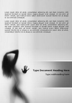 Nude Girl Word Template, Cover Page, 07557, Medical — PoweredTemplate.com
