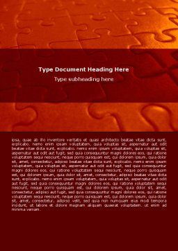 Puzzle Field Word Template, Cover Page, 07559, Consulting — PoweredTemplate.com