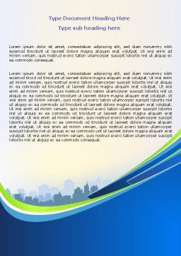 Blue Cityscape Word Template, Cover Page, 07561, Construction — PoweredTemplate.com