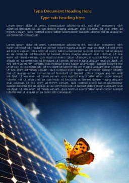 Solar Power Word Template, Cover Page, 07566, Technology, Science & Computers — PoweredTemplate.com
