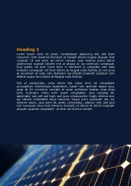 Solar Power Word Template, Second Inner Page, 07566, Technology, Science & Computers — PoweredTemplate.com