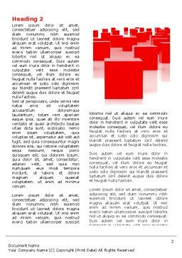 Free Red Cubes Word Template, First Inner Page, 07567, Business — PoweredTemplate.com