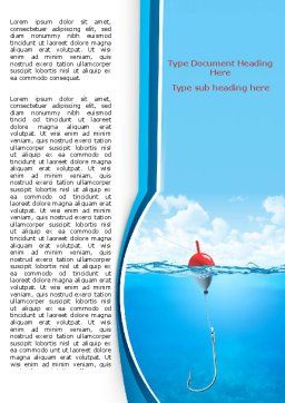 Fishhook Word Template, Cover Page, 07568, Business — PoweredTemplate.com