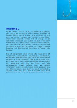 Fishhook Word Template, Second Inner Page, 07568, Business — PoweredTemplate.com