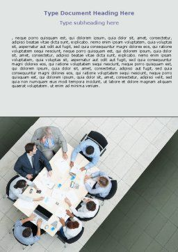 Teamwork Conference Word Template, Cover Page, 07569, Consulting — PoweredTemplate.com