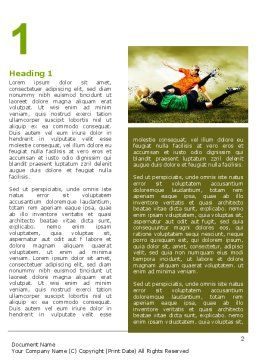 Soccer In A South Africa Word Template, First Inner Page, 07570, Sports — PoweredTemplate.com