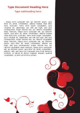 Love Heart Theme Word Template, Cover Page, 07573, Holiday/Special Occasion — PoweredTemplate.com