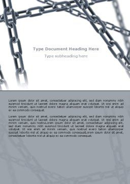 Steel Chains Crossing Word Template, Cover Page, 07576, Consulting — PoweredTemplate.com