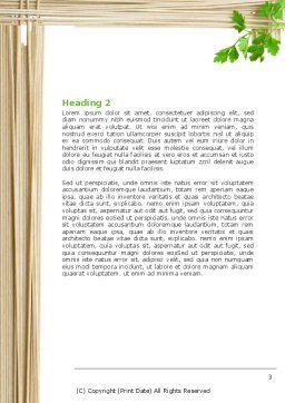 Noodle Frame Word Template, Second Inner Page, 07579, Food & Beverage — PoweredTemplate.com