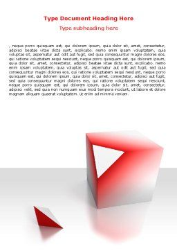 Cube Segment Word Template, Cover Page, 07582, Consulting — PoweredTemplate.com