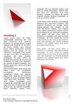 Cube Segment Word Template, First Inner Page, 07582, Consulting — PoweredTemplate.com